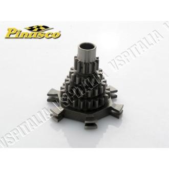 18c - Ingranaggio multiplo Pinasco Gran Turismo Quadruplo specifico per tutti i motori elaborati da turismo con primarie lunghe,