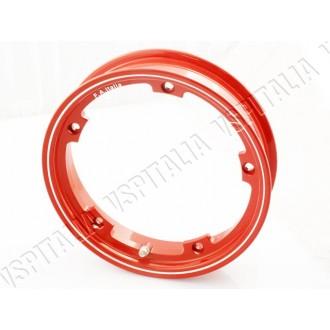 01u - Cerchio Tubeless rosso - canale 2,10x10\'\' Modello Margherita - Vespa 50 125 Primavera ET3