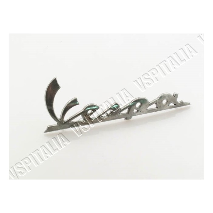22t - Scritta Vespa per cofano in metallo Vespa PX 125 150 200 freno a disco - R.O. Piaggio 577081
