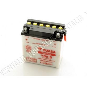 Batteria YUASA YB9-B 12V 9Ah con acido a corredo Vespa PX 125 150 200 e PK con avviamento elettrico - R.O. Piaggio 584810