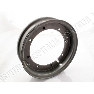 Cerchio scomponibile grigio 10\'\' canale 2.10 aperto modifica per pneumatico maggiorato Vespa 50 dal telaio V5A1T 752189 - Vesp