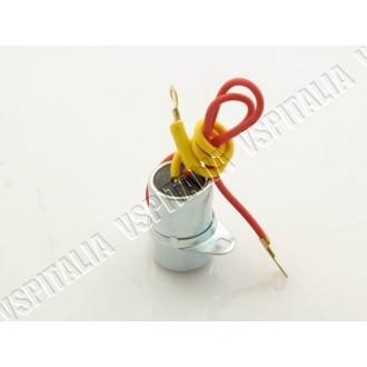 Condensatore a 2 fili Vespa GTR 2° - TS 2° - Sprint Veloce 2° - Super 2° - PX 125 150 impianto 6V  - a:36mm. 0,32 mF - R.O. Piag