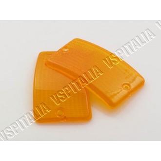 Coppia gemme frecce anteriori arancioni per Vespa PK 50 125 XL - RUSH - XL2 - N - FL - HP - R.O. Piaggio 234769 - 234772