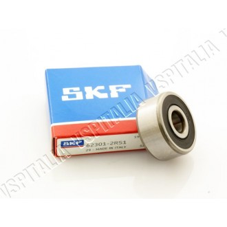 Cuscinetto ø12x37x17 SKF 62301-2RS1 perno ingranaggio multiplo lato ruota per Vespa 160 GS - 180 SS - R.O. Piaggio 52760 - 52758