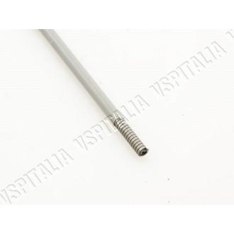 Guaina grigia con spirale piatta in acciaio e interno in P.E.H.D. - øint. 2,0mm - øest. 5,2mm. da utilizzare per trasmissione ca