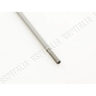 Guaina grigia con spirale piatta in acciaio e interno in P.E.H.D. - øint. 2,2mm - øest. 6,0mm. da utilizzare per trasmissione fr