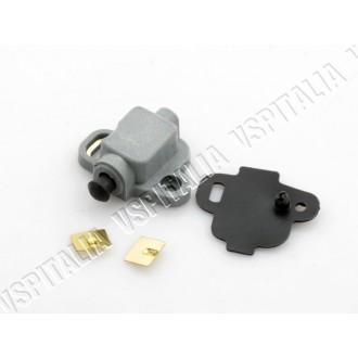 Interruttore stop grigio Vespa VNB 2/6T - GT - GTR - Super - TS - VBB2T - Sprint - Sprint Veloce (impianti elettrici senza batte
