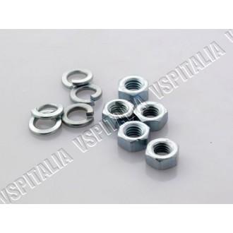 Kit 5 dadi ruota M8 esagono 13 zincati unione semicerchi e fissaggio cerchio al tamburo per tutti i modelli di Vespa - R.O. Piag