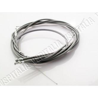 Kit cavi e guaine trasmissioni in teflon Vespa  PX 125 150 200 1 serie con trasmissione contakm innesto a vite
