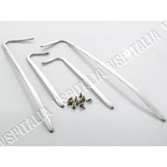 kit fregi  in alluminio per cofani e parafango (4 pz. + viti) Vespa GL 150 - R.O. Piaggio 610098M