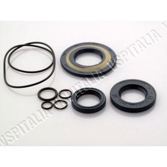 Kit paraoli in gomma CORTECO BLU, per modelli con sede paraolio frizione con scanalatura e paraolio ruota posteriore da ø30 con