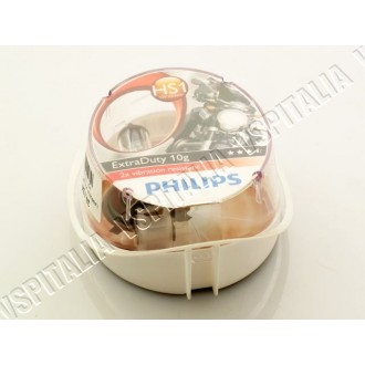 Lampadina 12V 35/35W HS1 PHILIPS EXTRADUTY alogena luce abbagliante/anabbagliante per faro alogeno Vespa PX 125 150 200 - R.O. P