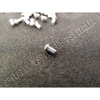 Microribattino in alluminio testa bombata ø1,5x3mm. per scritta Vespa 50 art. FTM000705