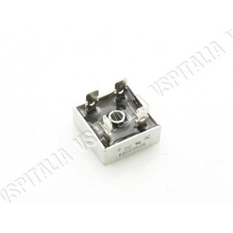 Raddrizzatore a ponte di diodi KBPC 3506 - 35A - 600V a quattro connettori - Per montaggio batteria su Vespa non predisposta e c