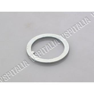 13c - Coppia serrature antifurto cofani con ganci esterni SIP colore alluminio, completo di due chiavi Vespa PX 125 150