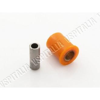 Silent block carter motore supporto ammortizzatore posteriore completo di tubo distanziale PLC per Vespa VNA - VNB - VBA - VBB -