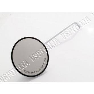 Specchietto cromato sinistro Vespa PX 125 150 200 freno a disco OMOLOGATO - R.O. Piaggio CM 181302