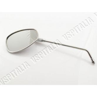 Specchietto cromato sinistro/destro ovale FAR OMOLOGATO completo di staffa al manubrio per tutti i modelli di Vespa con fissaggi