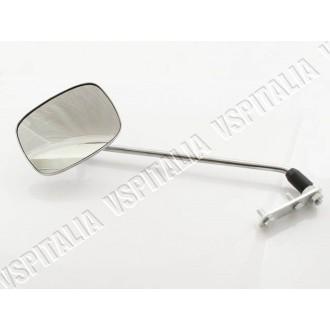 Specchietto cromato sinistro/destro rettangolare regolabile FAR OMOLOGATO completo di staffa al manubrio per tutti i modelli di