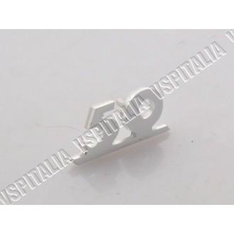Targhetta anteriore -50- in metallo in corsivo per Vespa 50 Special V5A2T - Special V5B1T fino al telaio 38699 - Special Elestar