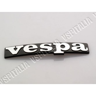 04b - Targhetta piaggio ad incastro per mascherina copristerzo Vespa PX 125 150 200 Arcobaleno - R.O. Piaggio 232895
