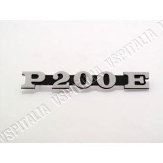 06b - Piastrina filettata fissaggio scritta piaggio Vespa PX 125 150 200 prima serie - R.O. Piaggio 180587