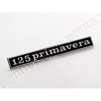 Targhetta posteriore -125 Primavera- in metallo per Vespa 125 Primavera dal telaio VMA2T 73489 - ET3 - R.O. Piaggio 145340